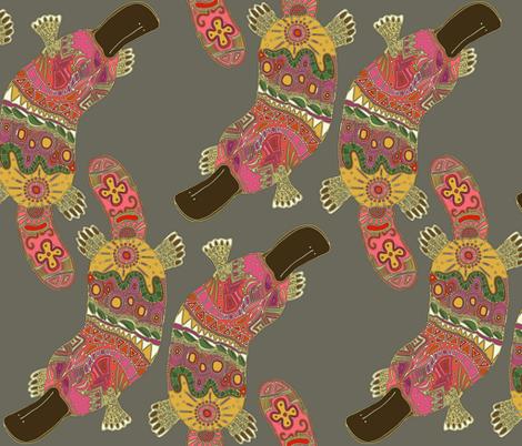 duck-billed platypus lead grey fabric by scrummy on Spoonflower - custom fabric