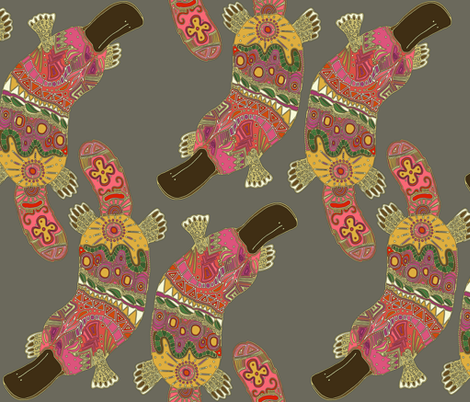 duck-billed platypus (lead) fabric by scrummy on Spoonflower - custom fabric
