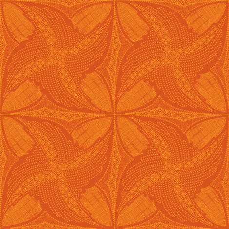 spindots afrikans tangerine fabric by glimmericks on Spoonflower - custom fabric