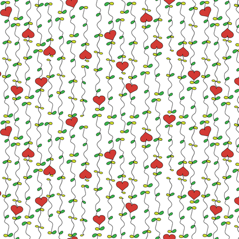 My Growing Love fabric by mag-o on Spoonflower - custom fabric