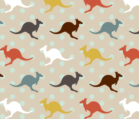 KangarooPolka fabric by mrshervi on Spoonflower - custom fabric