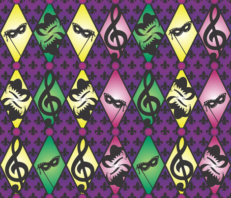 Laissez les bons temps rouler! fabric by illustrative_images on Spoonflower - custom fabric