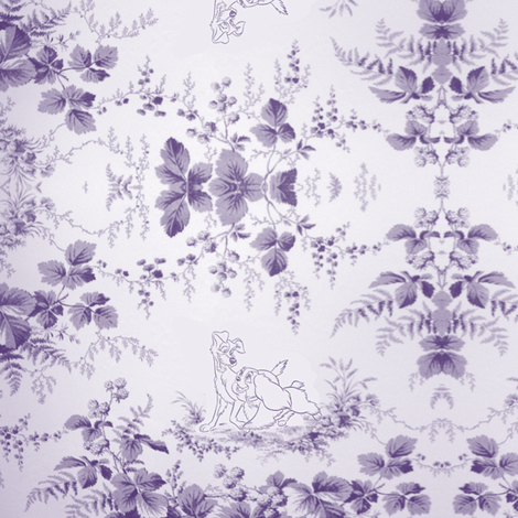 Toile and the tramp fabric by savagelystitched on Spoonflower - custom fabric