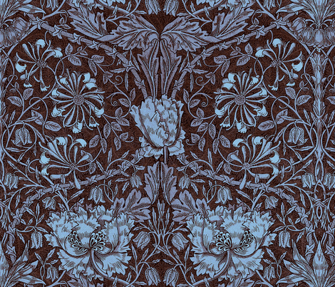 William Morris ~ Honeysuckle Twilight fabric by peacoquettedesigns on Spoonflower - custom fabric