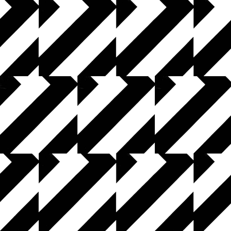Vlasblom Black & White fabric by stoflab on Spoonflower - custom fabric