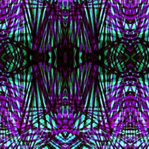 Wild Tiger in Purple and Green