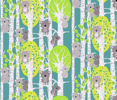 koalas in the trees fabric by katarina on Spoonflower - custom fabric