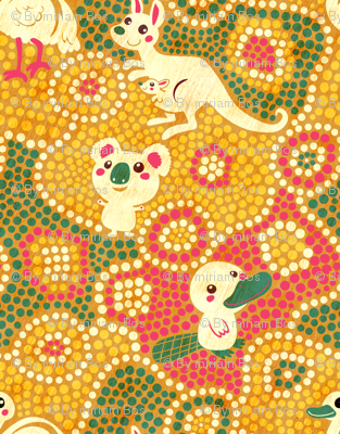 Australia Animals   yellow