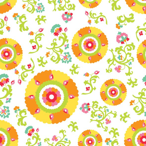 Oh Suzani Citrus Large- Scale Print