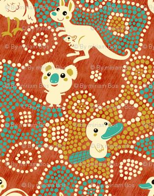 Australia Animals | red