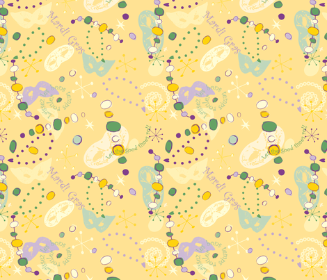 Yellow, Gold and Green fabric by grafikat on Spoonflower - custom fabric