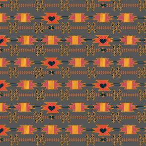 Navajo Hearts - Gray
