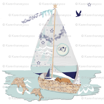 RJ's Puppy Sailboat Wall Decal