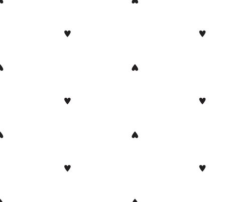 black hearts fabric by lindsaypardo on Spoonflower - custom fabric