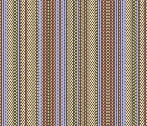 Pointillist Stripes - Chick Poet fabric by penina on Spoonflower - custom fabric