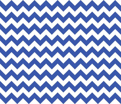 Zig Zag Chevron Blue fabric by littlerhodydesign on Spoonflower - custom fabric