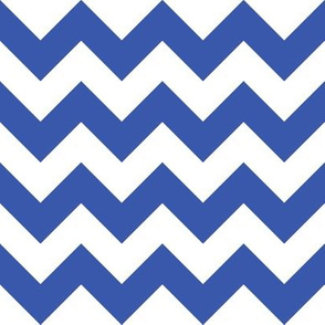 Zig Zag Chevron Blue