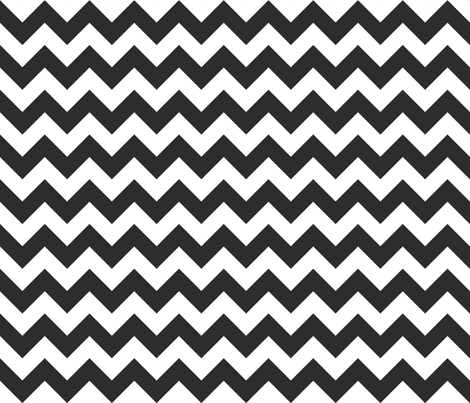 Zig Zag Chevron Coal fabric by littlerhodydesign on Spoonflower - custom fabric