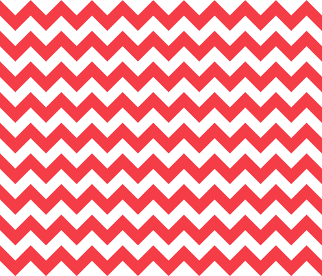 Zig Zag Chevron Red fabric by littlerhodydesign on Spoonflower - custom fabric