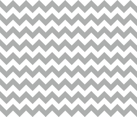 Zig Zag Chevron Silver fabric by littlerhodydesign on Spoonflower - custom fabric
