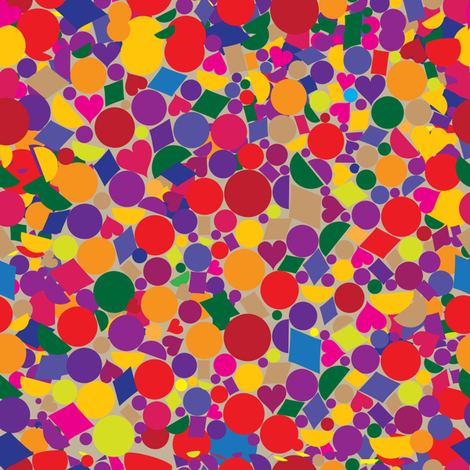 Confetti fabric by lilola on Spoonflower - custom fabric