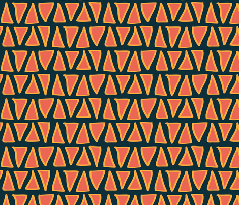 Large Desert Triangles fabric by joyfulroots on Spoonflower - custom fabric