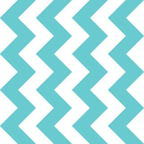 Chevron Railroaded Teal