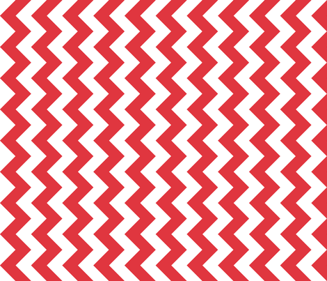 Chevron Railroaded Red fabric by littlerhodydesign on Spoonflower - custom fabric