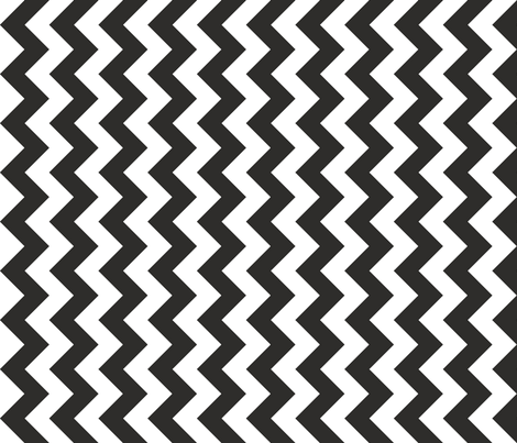 Chevron Railroaded Coal fabric by littlerhodydesign on Spoonflower - custom fabric