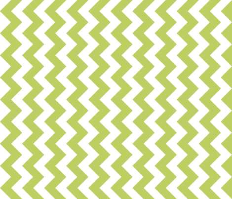 Chevron Railroaded Apple Green fabric by littlerhodydesign on Spoonflower - custom fabric