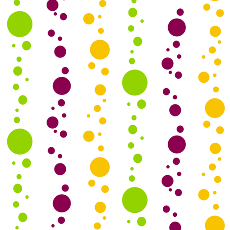 Mardi Gras Fat Tuesday White Bubbles fabric by smuk on Spoonflower - custom fabric