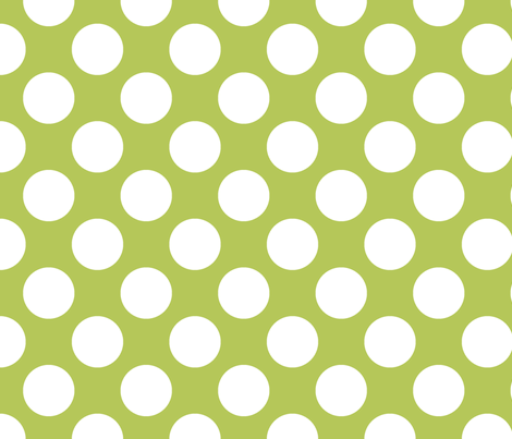 Polka Dot Apple Green fabric by littlerhodydesign on Spoonflower - custom fabric