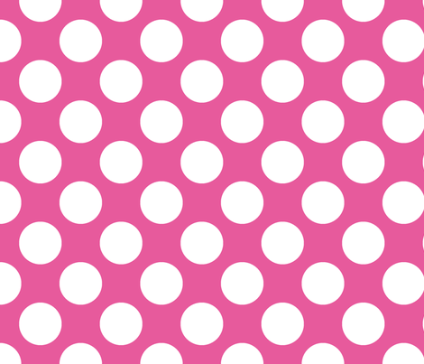 Polka Dot Bubble Gum fabric by littlerhodydesign on Spoonflower - custom fabric