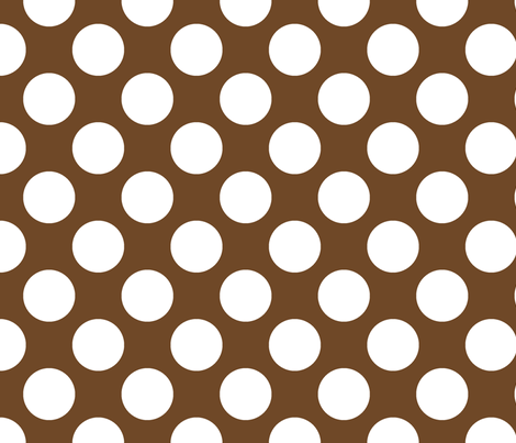 Polka Dot Chocolate fabric by littlerhodydesign on Spoonflower - custom fabric