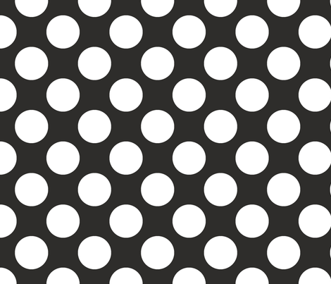 Polka Dot Coal fabric by littlerhodydesign on Spoonflower - custom fabric