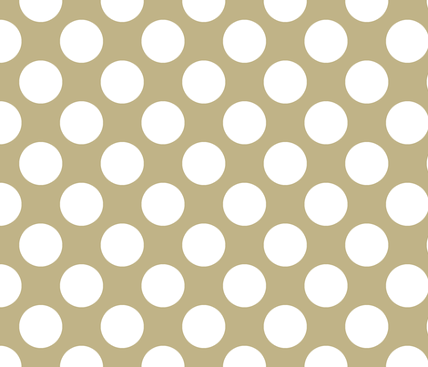 Polka Dot Khaki fabric by littlerhodydesign on Spoonflower - custom fabric