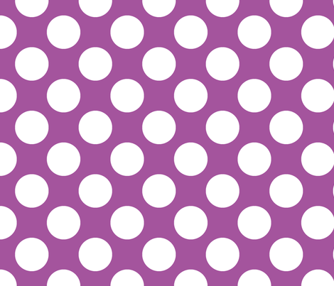 Polka Dot Plum fabric by littlerhodydesign on Spoonflower - custom fabric