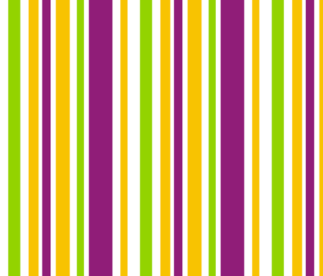 Mardi Gras Fat Tuesday White Stripes  fabric by smuk on Spoonflower - custom fabric