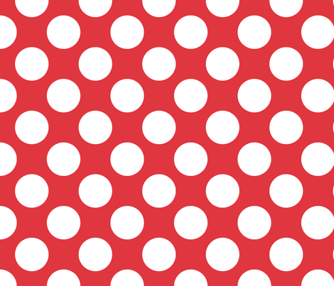 Polka Dot Red fabric by littlerhodydesign on Spoonflower - custom fabric