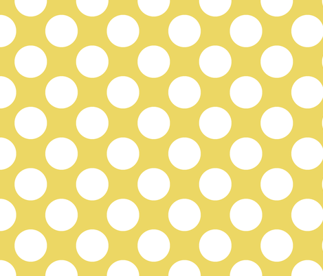 Polka Dot Sunshine fabric by littlerhodydesign on Spoonflower - custom fabric