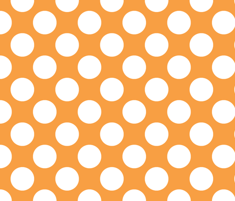 Polka Dot Tangerine fabric by littlerhodydesign on Spoonflower - custom fabric