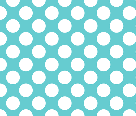 Polka Dot Teal fabric by littlerhodydesign on Spoonflower - custom fabric
