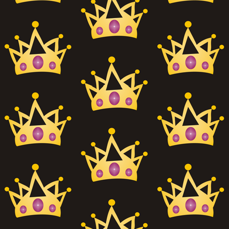 Mardi Gras Fat Tuesday Crowns fabric by smuk on Spoonflower - custom fabric