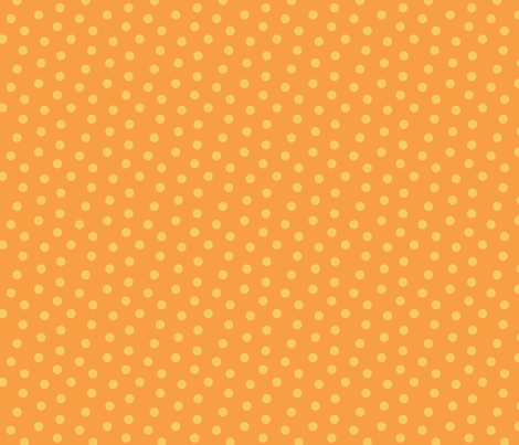 Tonal Mini Dot Tangerine fabric by littlerhodydesign on Spoonflower - custom fabric