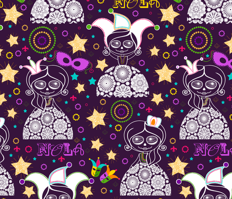 NOLA {Purple} fabric by natitys on Spoonflower - custom fabric