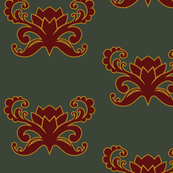 Lotus Bloom {dark green}
