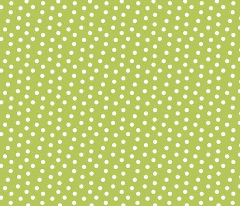 Mini Dot Apple Green fabric by littlerhodydesign on Spoonflower - custom fabric