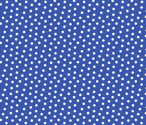 Mini Dot Blue fabric by littlerhodydesign on Spoonflower - custom fabric