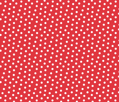 Mini Dot Red fabric by littlerhodydesign on Spoonflower - custom fabric