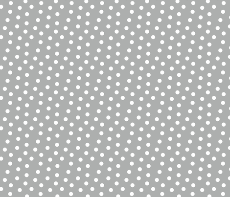 Mini Dot Silver fabric by littlerhodydesign on Spoonflower - custom fabric